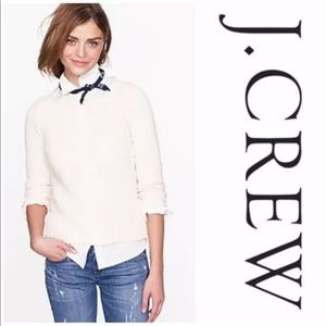 J Crew Twisted Stitch Open Neck Sweater Sz Small